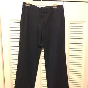 Banana Republic Logan Navy Bi-stretch Pants Size 8